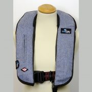HARRIS TWEED BLUE HERRINGBONE LIFEJACKET