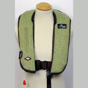 HARRIS TWEED GREEN HERRINGBONE LIFEJACKET