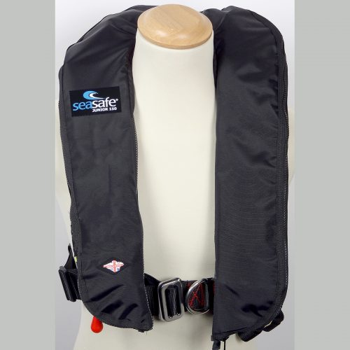 SeaSafe Systems Junior Automatic LifeJacket - Black