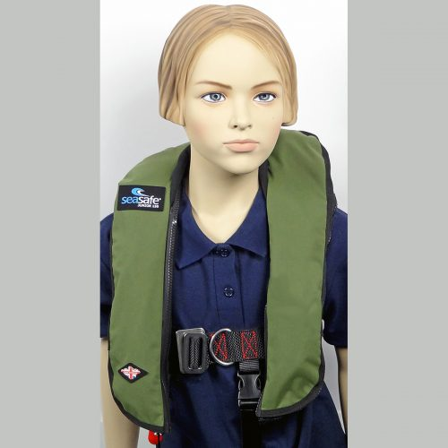 SeaSafe Systems Junior Automatic LifeJacket - Green