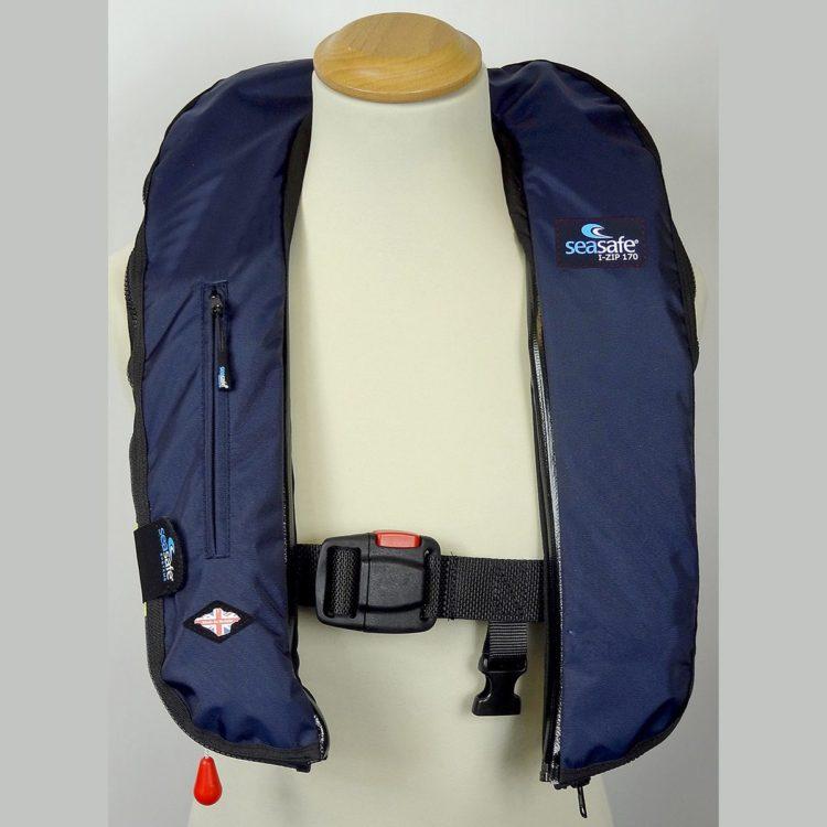 Navy I-Zip Automatic Life Jacket