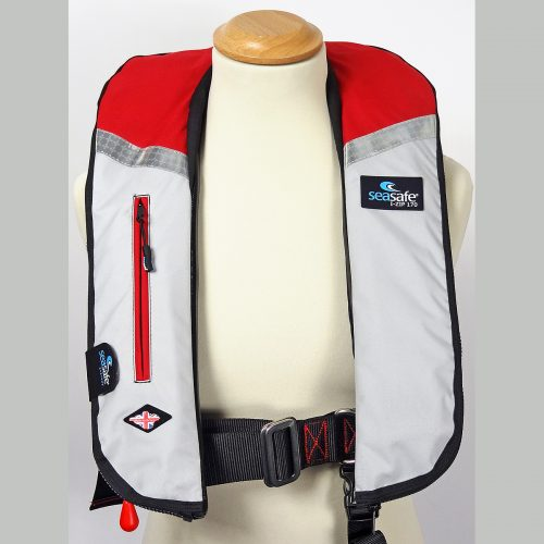 SeaSafe Systems I-Zip 170N LifeJacket - Red & Grey