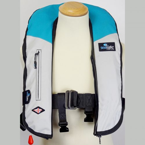 SeaSafe Systems I-Zip 170N Life Jacket - Aqua & Grey