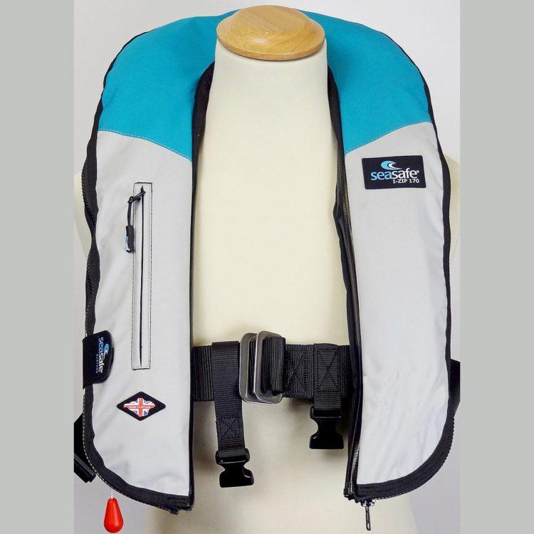 SeaSafe Systems I-Zip 170N Life Jacket - Aqua & Grey
