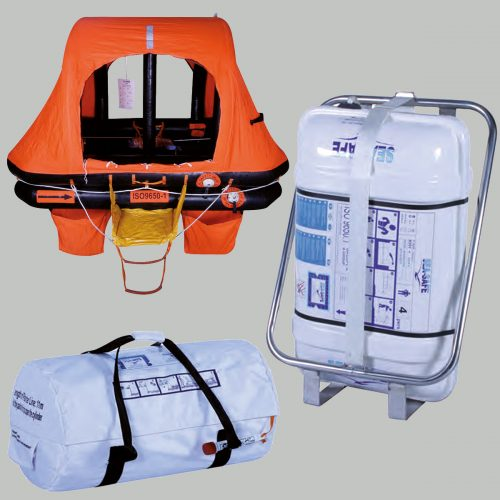 SeaSafe Container and Valise Self Righting Life Rafts