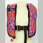 SeaSafe Systems Junior Automatic LifeJacket - Pink Bubbles