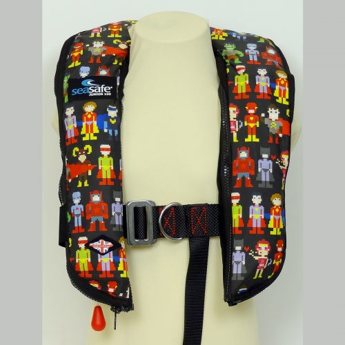 SeaSafe Systems Junior Automatic Life Jacket - Super Heroes