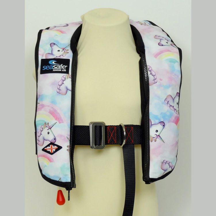 SeaSafe Systems Junior Automatic Life Jacket - Unicorn